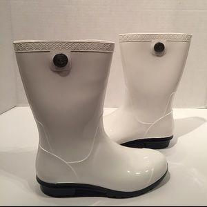 Ugg Sienna White Rubber Rain Boots